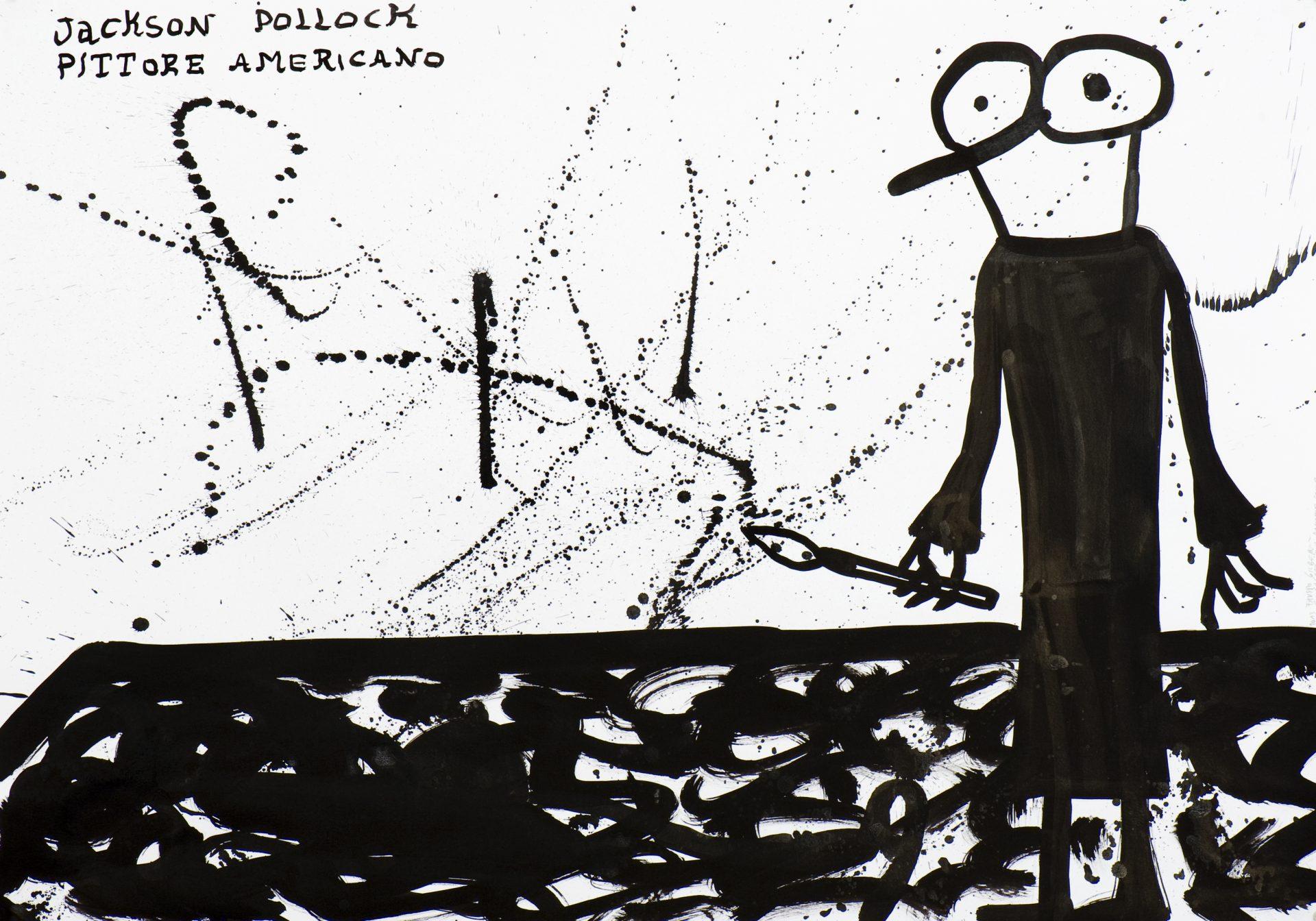 Il Signor Gilbo<br>FGL05<br> <br>tecnica: inchiostro su carta <br>anno: 2013<br><br>DISPONIBILE