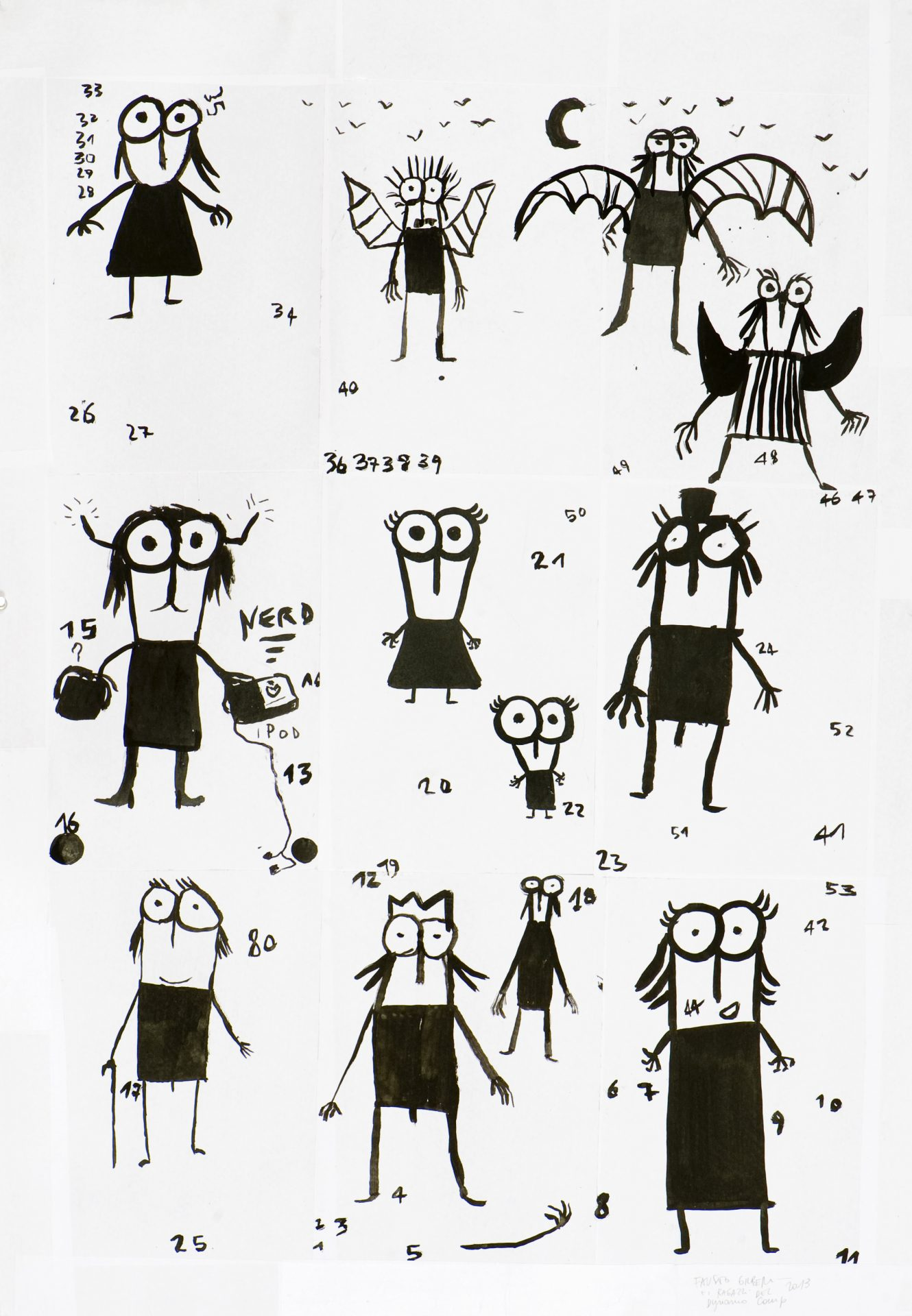 Il Signor Gilbo<br>FGL10<br> <br>tecnica: inchiostro su carta <br>anno: 2013<br><br>DISPONIBILE