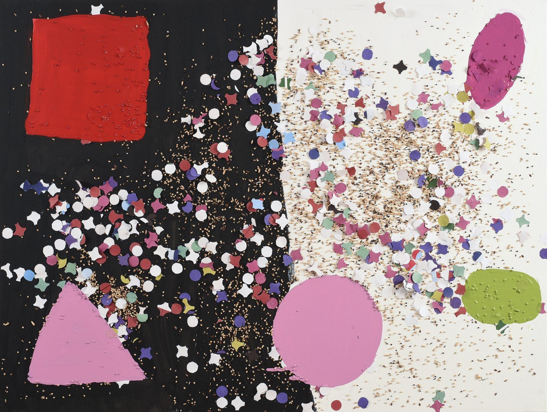 Giocando con i colori<br>CS05<br>misure: 80 x 100 cm<br>tecnica mista su tela<br>anno: 2015<br><br>DISPONIBILE