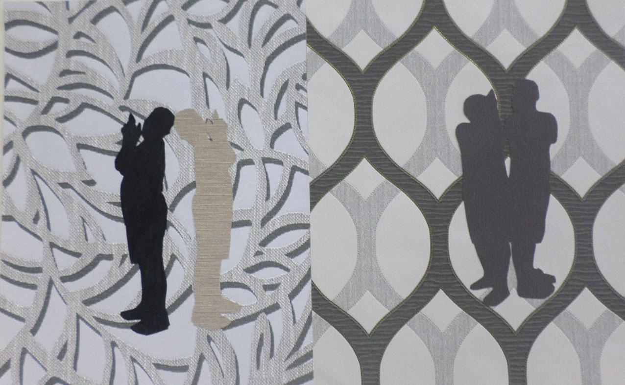 Autoritratti<br>DSP02<br><br>tecnica: collage da carte da parati<br>anno: 2015<br><br>DISPONIBILE