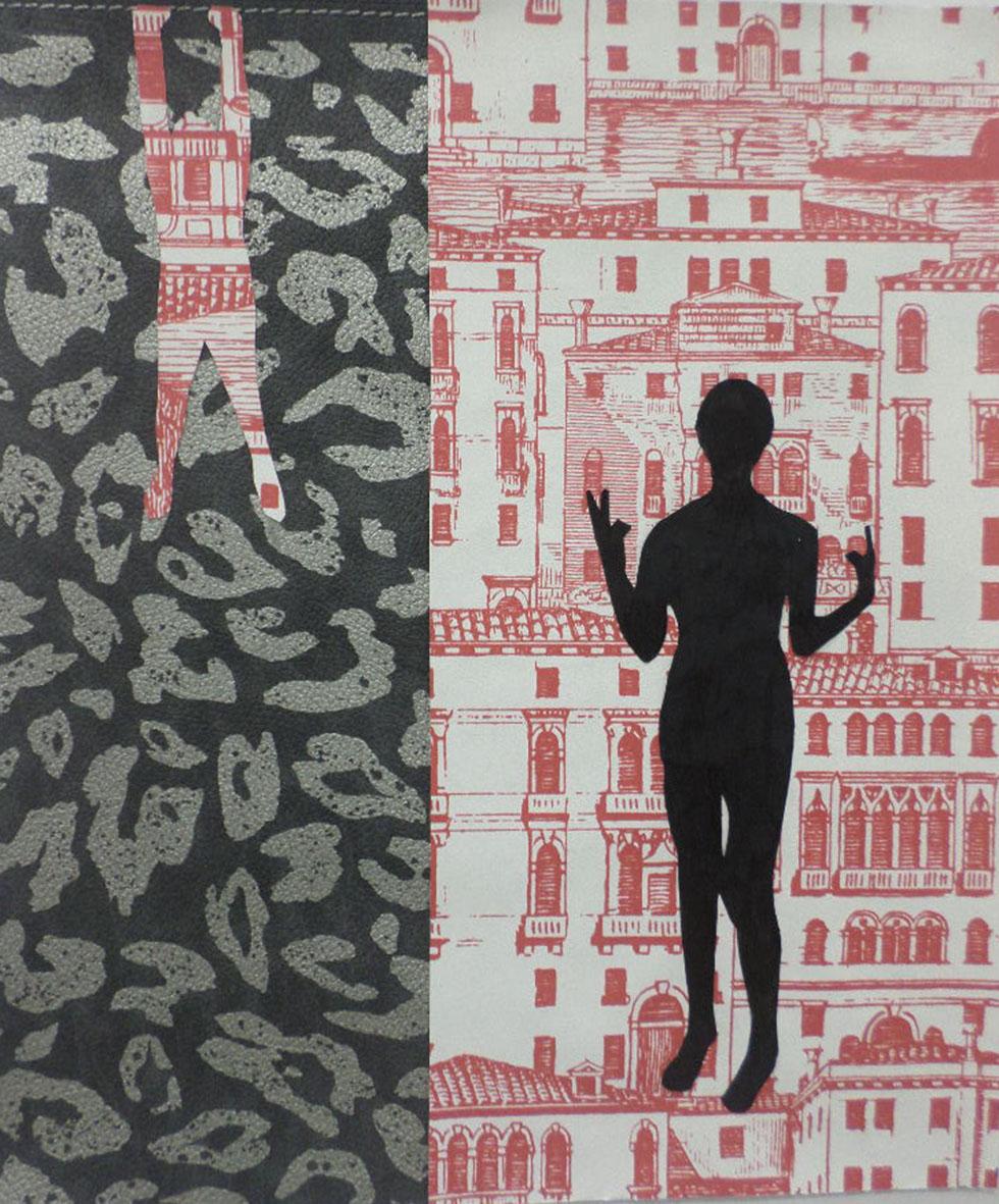 """Autoritratti<br>DSP04<br><br>tecnica: collage da carte da parati<br>anno: 2015<br><br><span style=""""color:red"""">NON DISPONIBILE</span>"""