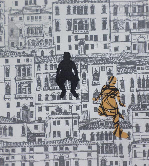 Autoritratti<br>DSP05<br><br>tecnica: collage da carte da parati<br>anno: 2015<br><br>DISPONIBILE