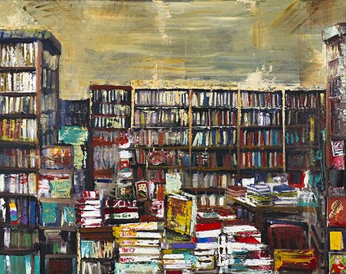 """Librerie collettive<br>MS03<br> misure: 125 x 170 cm <br>tecnica: acrilico su tela<br>anno: 2014<br><br><span style=""""color:red"""">NON DISPONIBILE</span>"""