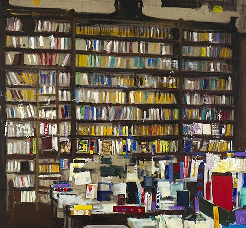 """Librerie collettive<br>MS05<br> misure: 125 x 170 cm <br>tecnica: acrilico su tela<br>anno: 2014<br><br><span style=""""color:red"""">NON DISPONIBILE</span>"""