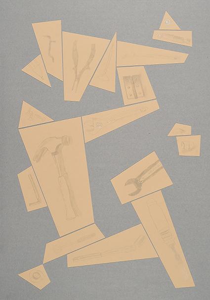 Argenteria Dynamo<br>OPR01<br>misure: 104 x 75 cm<br>tecnica: disegni a punta d'argento su carta <br>anno: 2015<br><br>DISPONIBILE