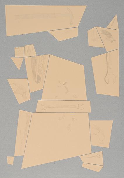 Argenteria Dynamo<br>OPR02<br>misure: 104 x 75 cm<br>tecnica: disegni a punta d'argento su carta <br>anno: 2015<br><br>DISPONIBILE