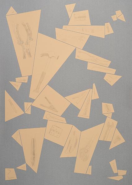 Argenteria Dynamo<br>OPR03<br>misure: 104 x 75 cm<br>tecnica: disegni a punta d'argento su carta <br>anno: 2015<br><br>DISPONIBILE