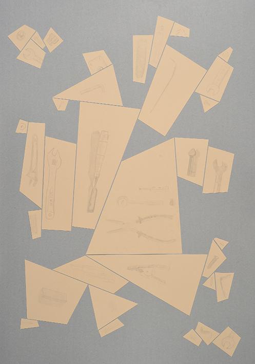Argenteria Dynamo<br>OPR04<br>misure: 104 x 75 cm<br>tecnica: disegni a punta d'argento su carta <br>anno: 2015<br><br>DISPONIBILE