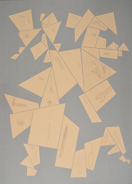 Argenteria Dynamo<br>OPR05<br>misure: 104 x 75 cm<br>tecnica: disegni a punta d'argento su carta <br>anno: 2015<br><br>DISPONIBILE