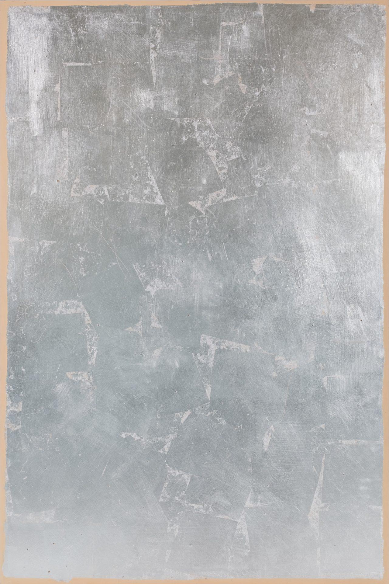 Argenteria Dynamo<br>OPR07<br>misure: 150 x 100 cm<br>tecnica: foglio d'argento su tavola<br>anno: 2015<br><br>DISPONIBILE