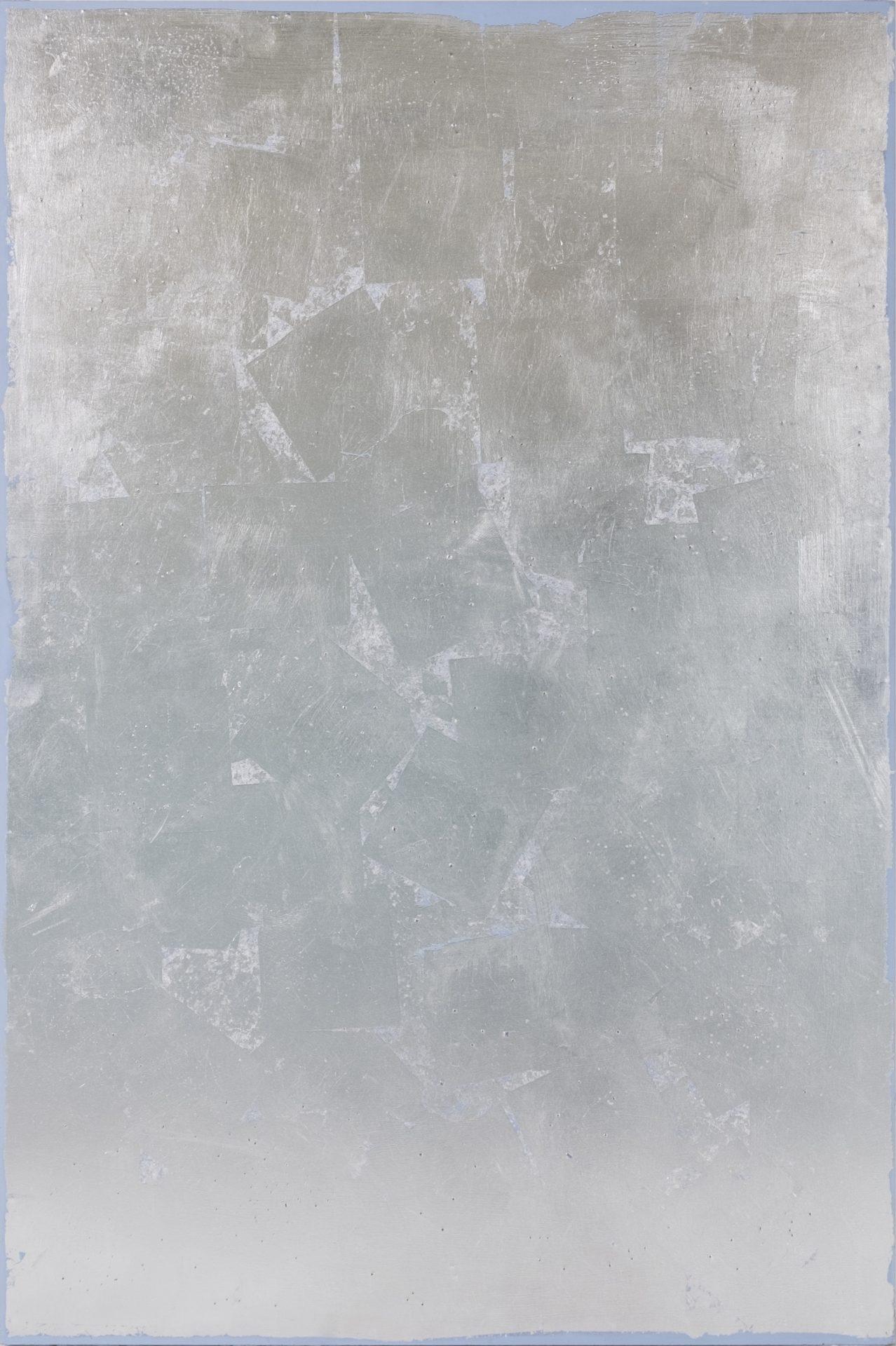 Argenteria Dynamo<br>OPR08<br>misure: 150 x 100 cm<br>tecnica: foglio d'argento su tavola<br>anno: 2015<br><br>DISPONIBILE