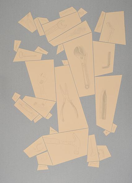 Argenteria Dynamo<br>PO04<br>misure: 104 x 75 cm<br>tecnica: disegni a punta d'argento su carta <br>anno: 2015<br><br>DISPONIBILE