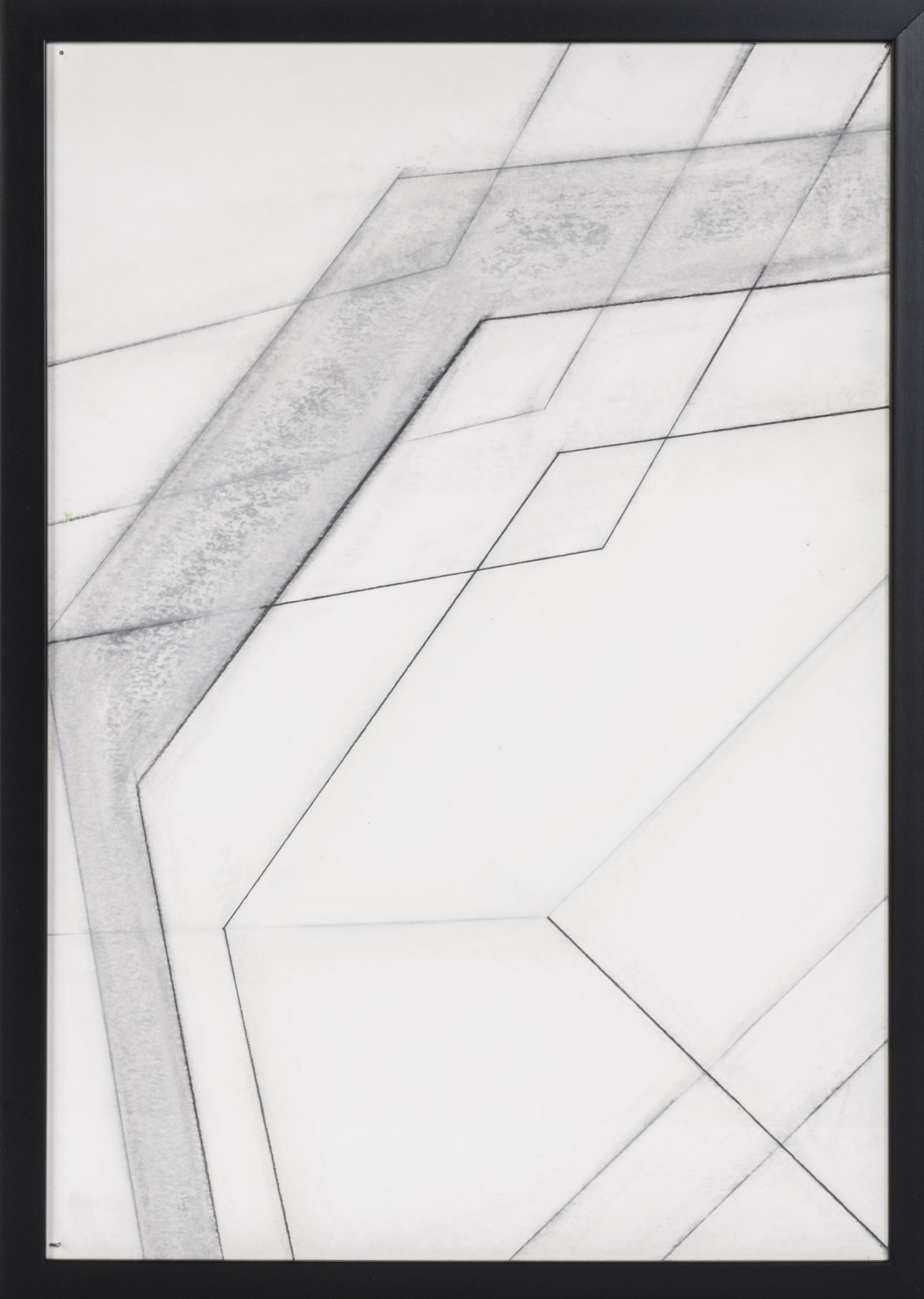 Unlimited in Dynamo<br>RMR13<br>misure: 35 x 50 cm<br>tecnica: gesso a olio su carta<br>anno: 2018<br>