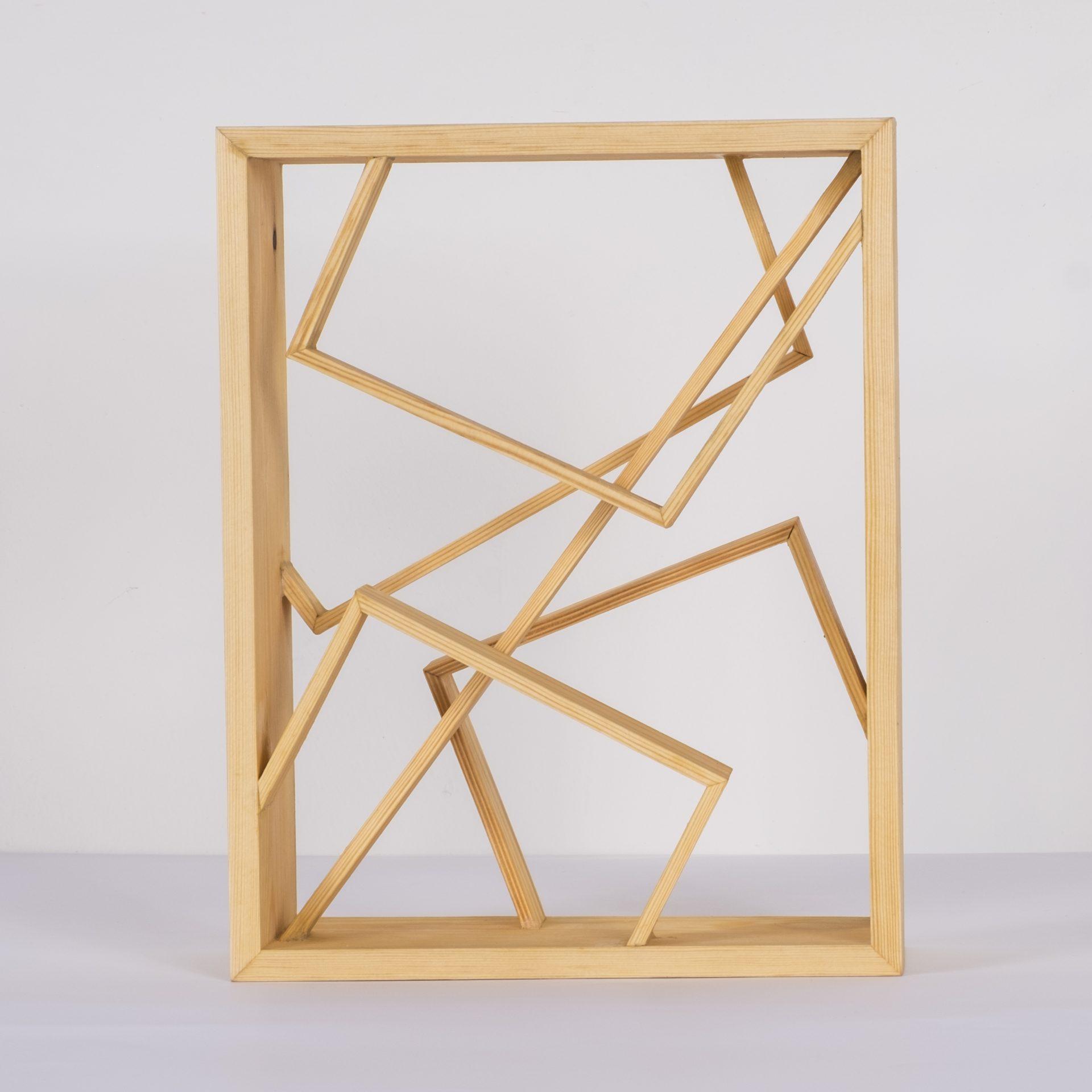 Unlimited in Dynamo<br>RMR32<br>misure: circa 28 x 22 cm<br>tecnica: legno pino <br>anno: 2018<br><br>DISPONIBILE