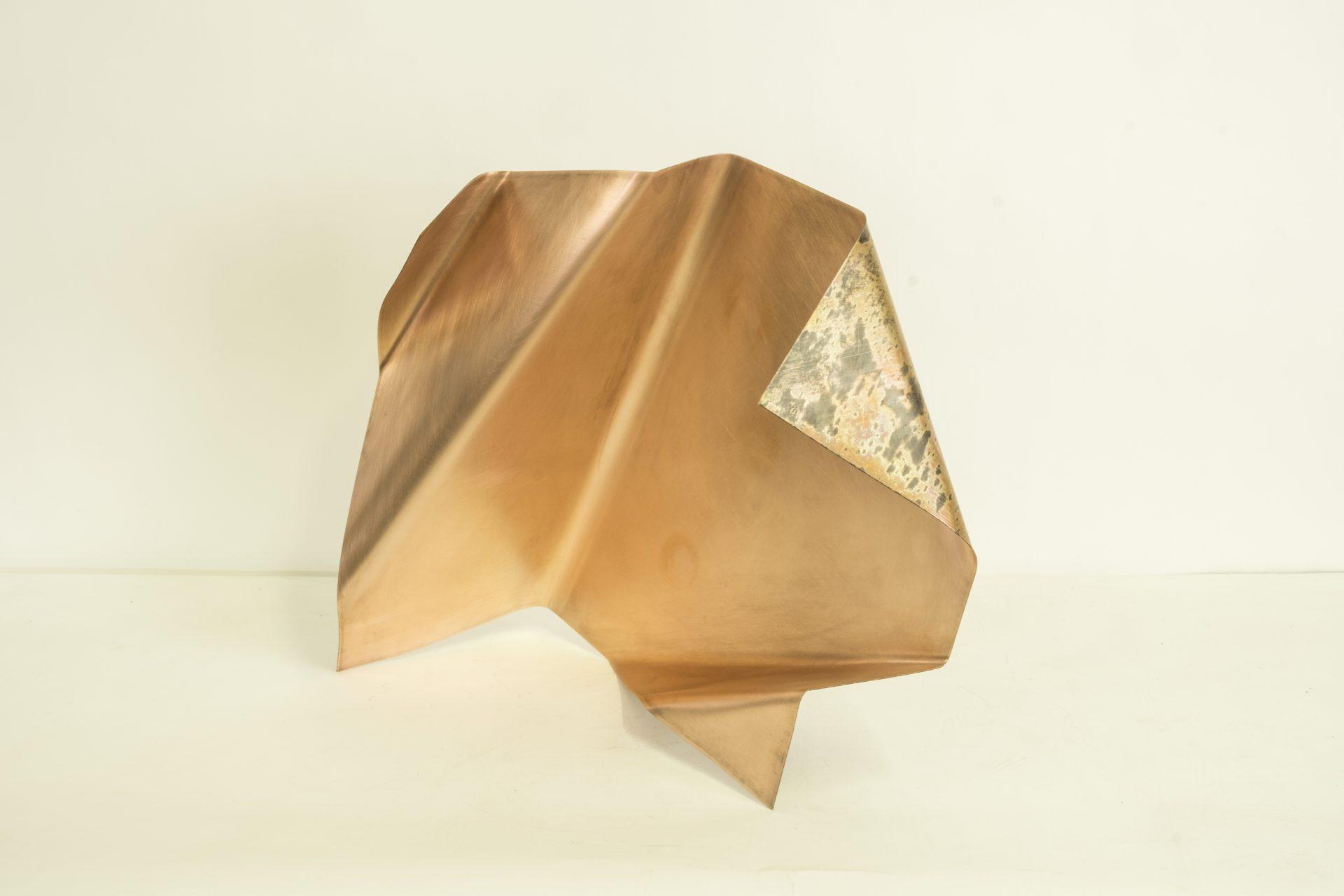 Genitori Forti<br>SPR05<br>misure: 58 x 51 x 26 cm<br>tecnica: scultura di rame<br>anno: 2018