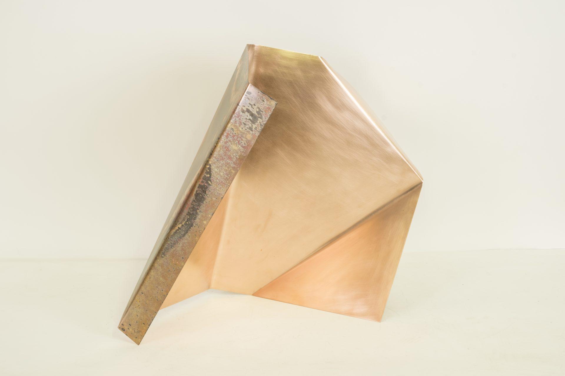 Genitori Forti<br>SPR07<br>misure: 63 x 52 x 30 cm<br>tecnica: scultura di rame<br>anno: 2018