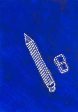 Spazio Amato<br>MSU04<br>misure: 35 cm x 50 cm<br>tecnica: Acrilico e vernice fosforescente su carta<br>anno: 2016<br><br>DISPONIBILE